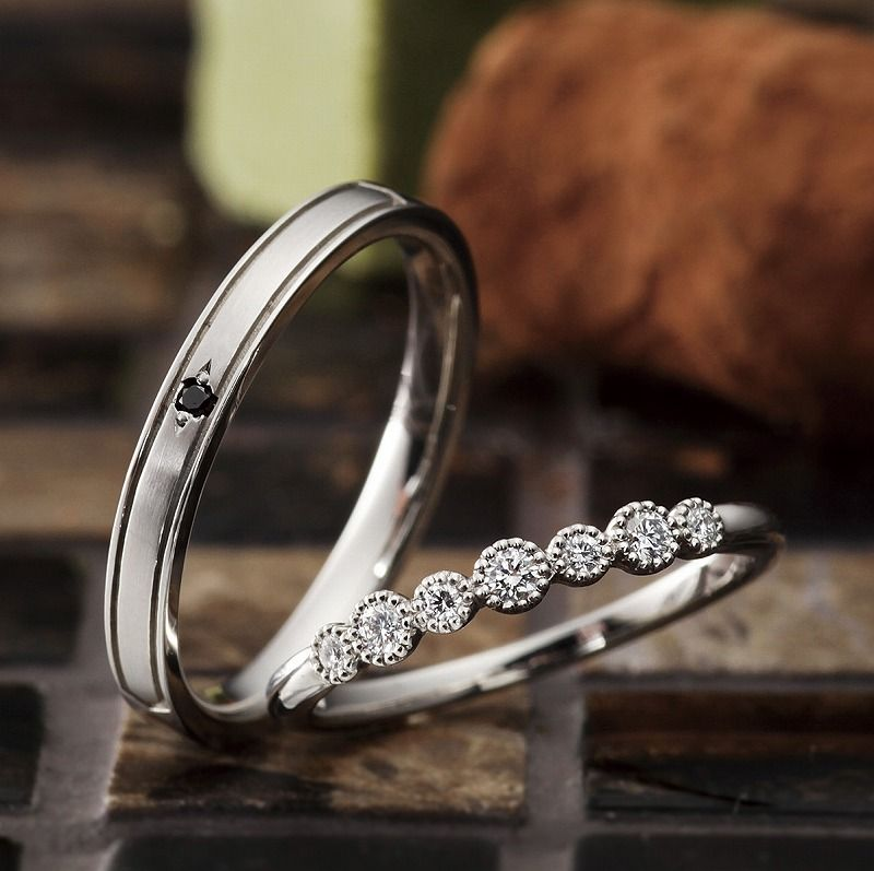 Cute Customized Wedding Bands VENUS TEARS SINGAPORE