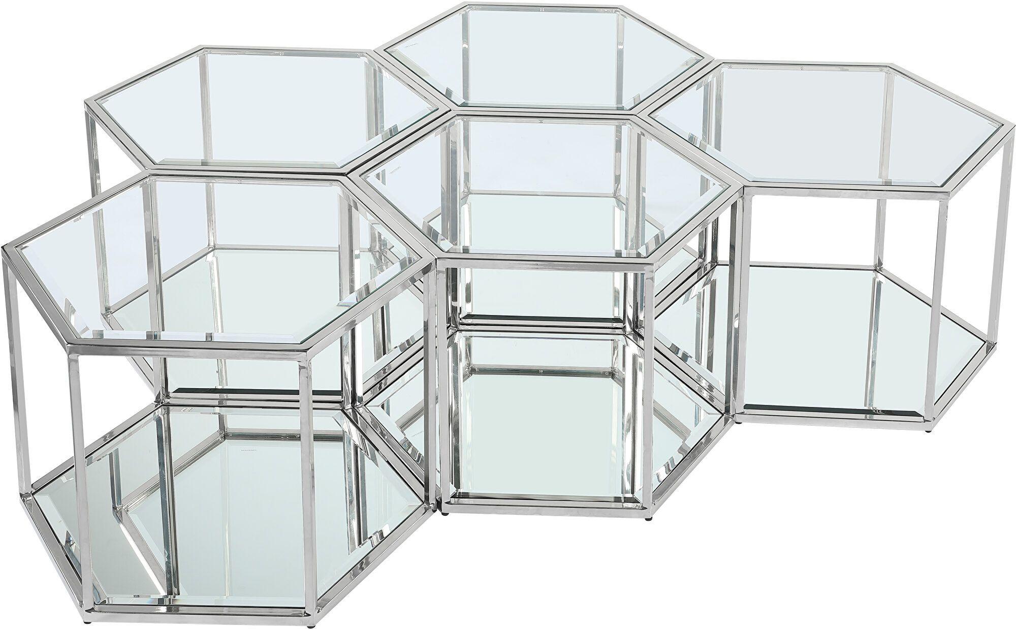 Sei 5 Silver Coffee Table 206 Ct 5pc Meridian Furniture Coffee Tables In 2021 Hexagon Coffee Table Coffee Table Setting Meridian Furniture [ 1238 x 2000 Pixel ]