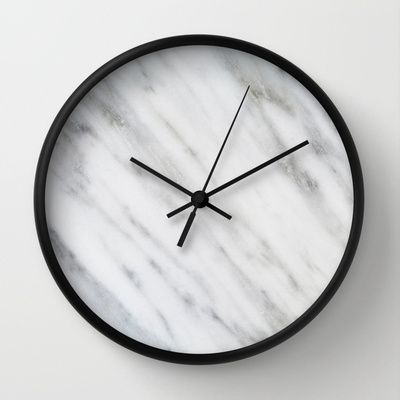 Carrara Italian Marble Wall Clock by Cafelab - $30.00