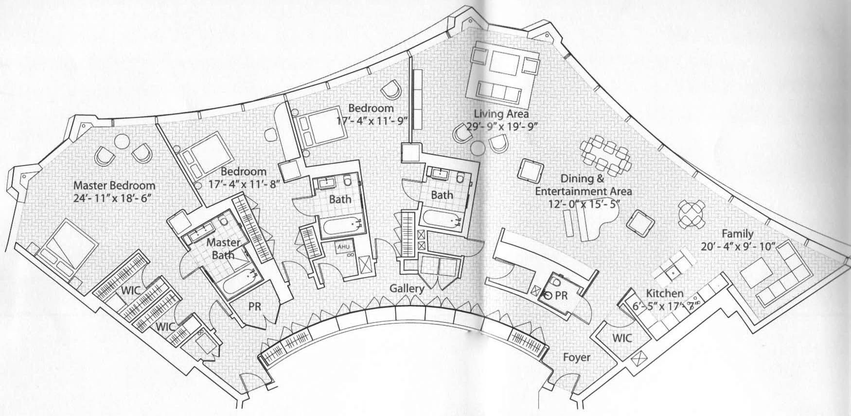 In Spired Condo Tower S Creative Shape Leads To Some Unusual Floor Plans Floor Plans How To Plan Spires