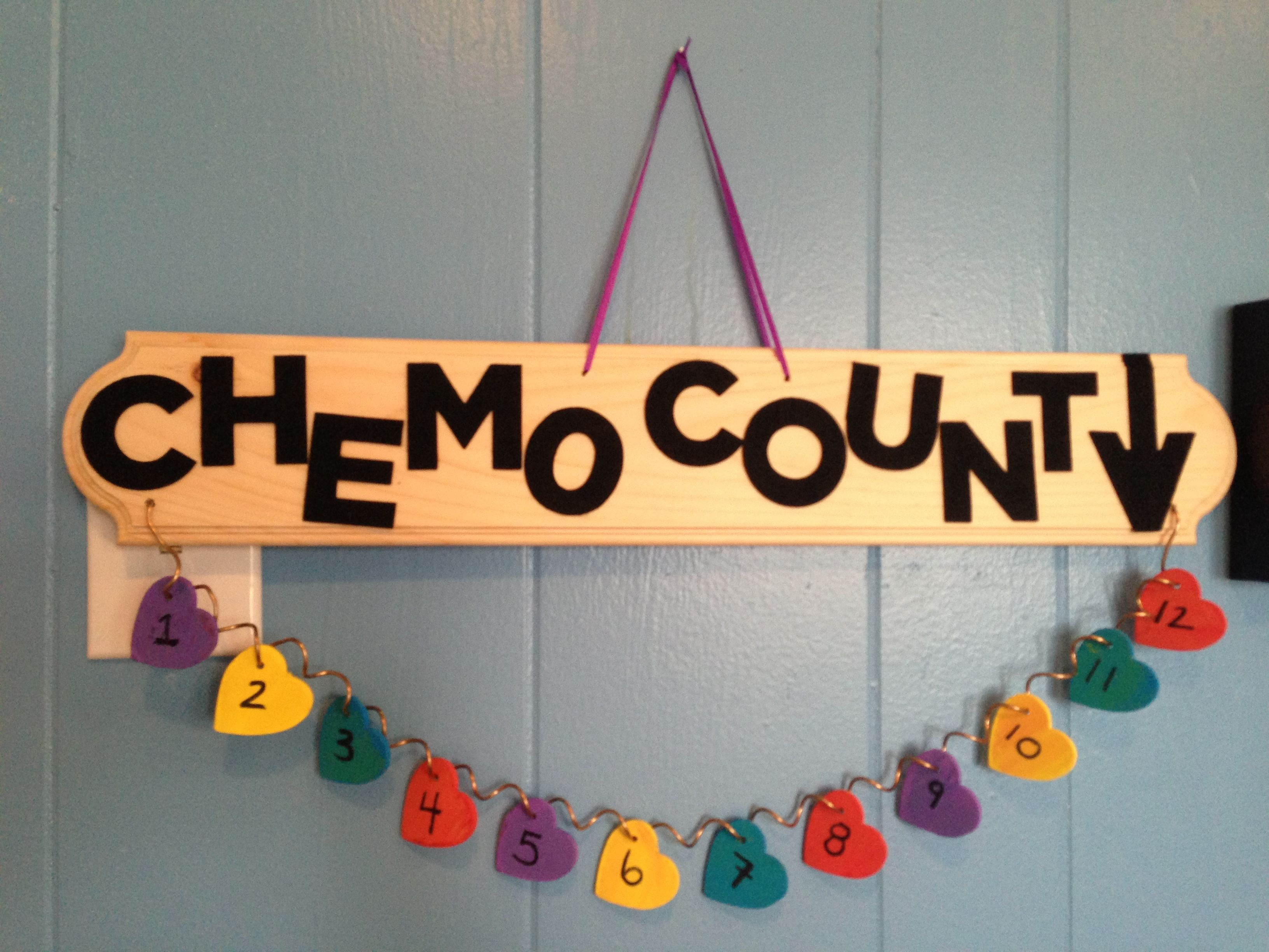 27289f66612 My chemo countdown that I made for my great friend :) | Crafts and ...
