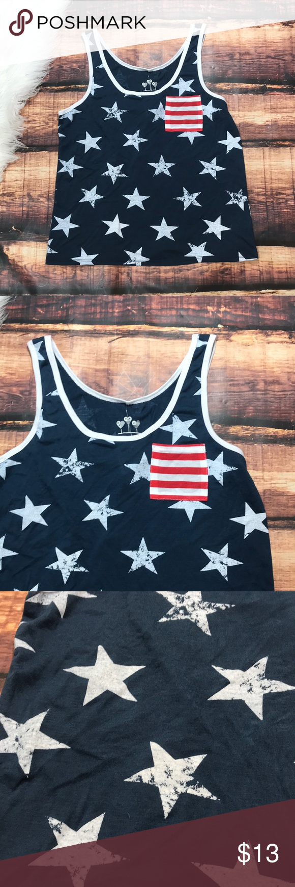 Stars And Stripes American Flag Tank Top Shirt A Super Cute Way To Be Patriotic On The 4th Of July This Tank Top Is American Flag Tank Clothes Design Fashion