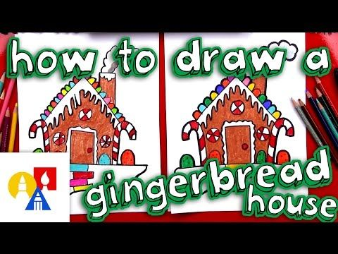 How To Draw A Gingerbread House Art For Kids Hub Art For Kids Hub Christmas Art Projects Art For Kids