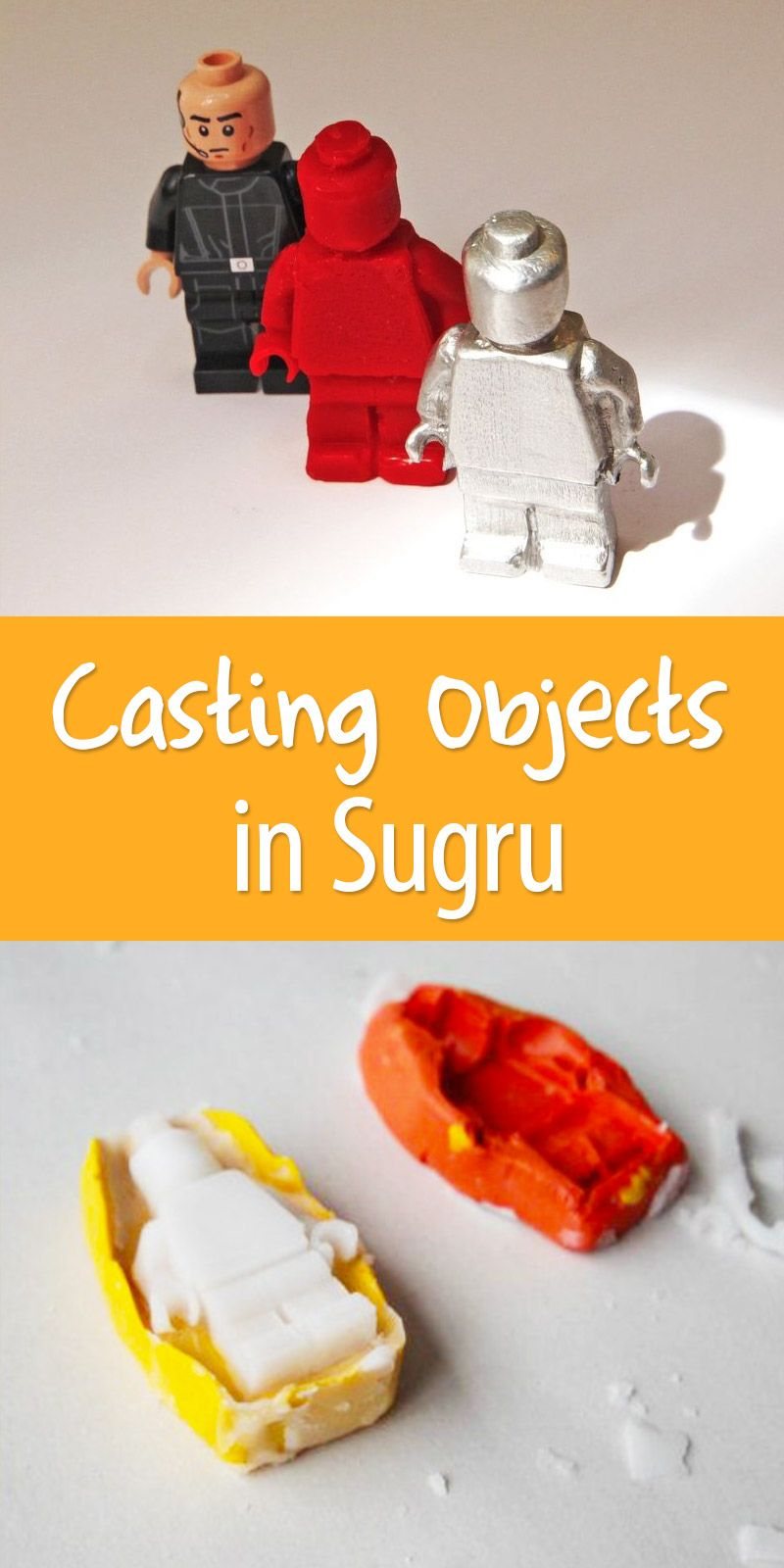 Casting Objects in Sugru (Make Your Own Candle-wax and Metal