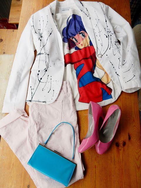 VillaNanna: Helppo jätti t-paita ja jakun tuunaus