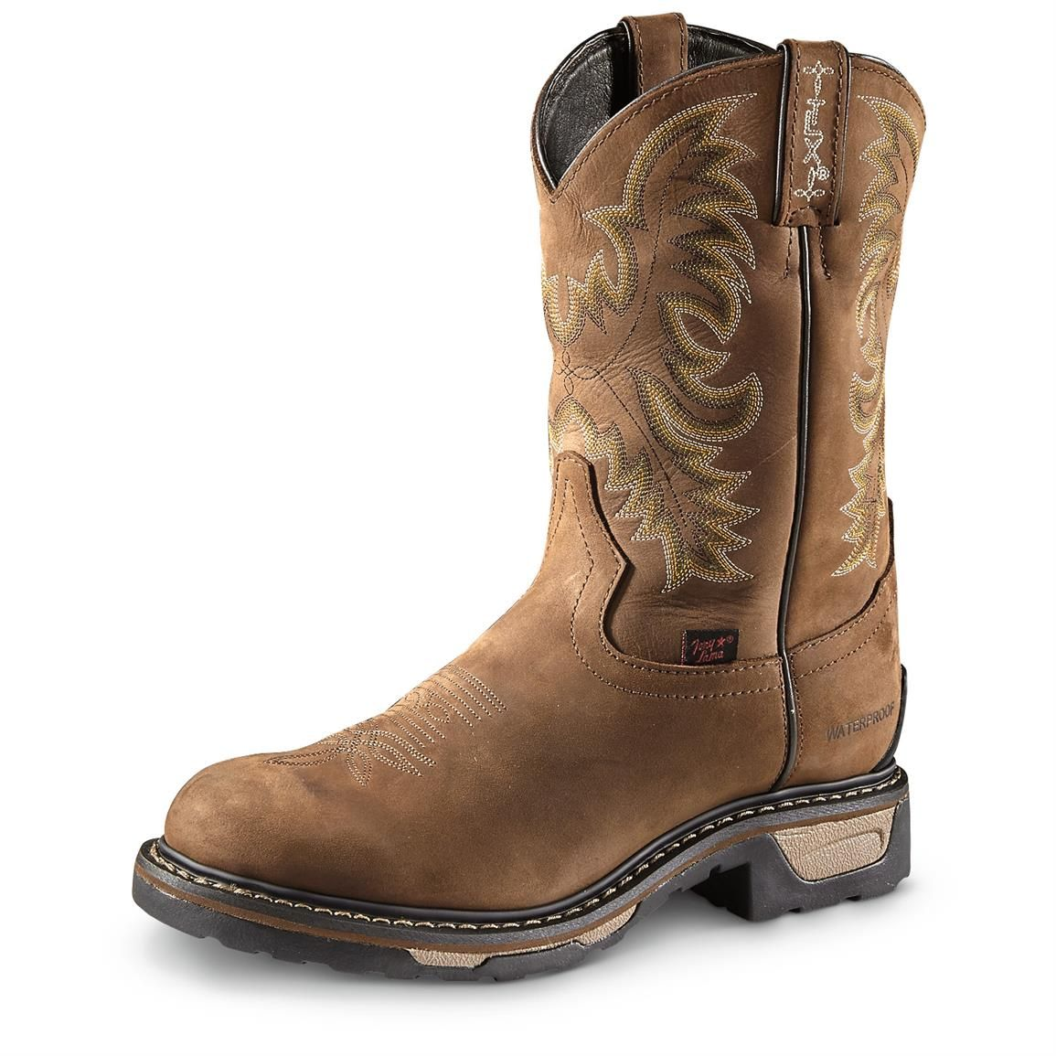 Tony Lama Men S Harlingen Waterproof Western Work Boots In