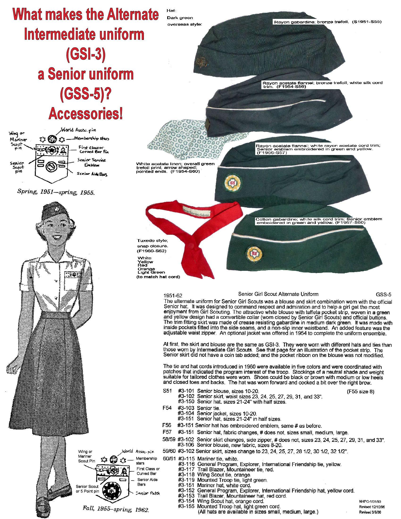 Vintage girl guide uniforms