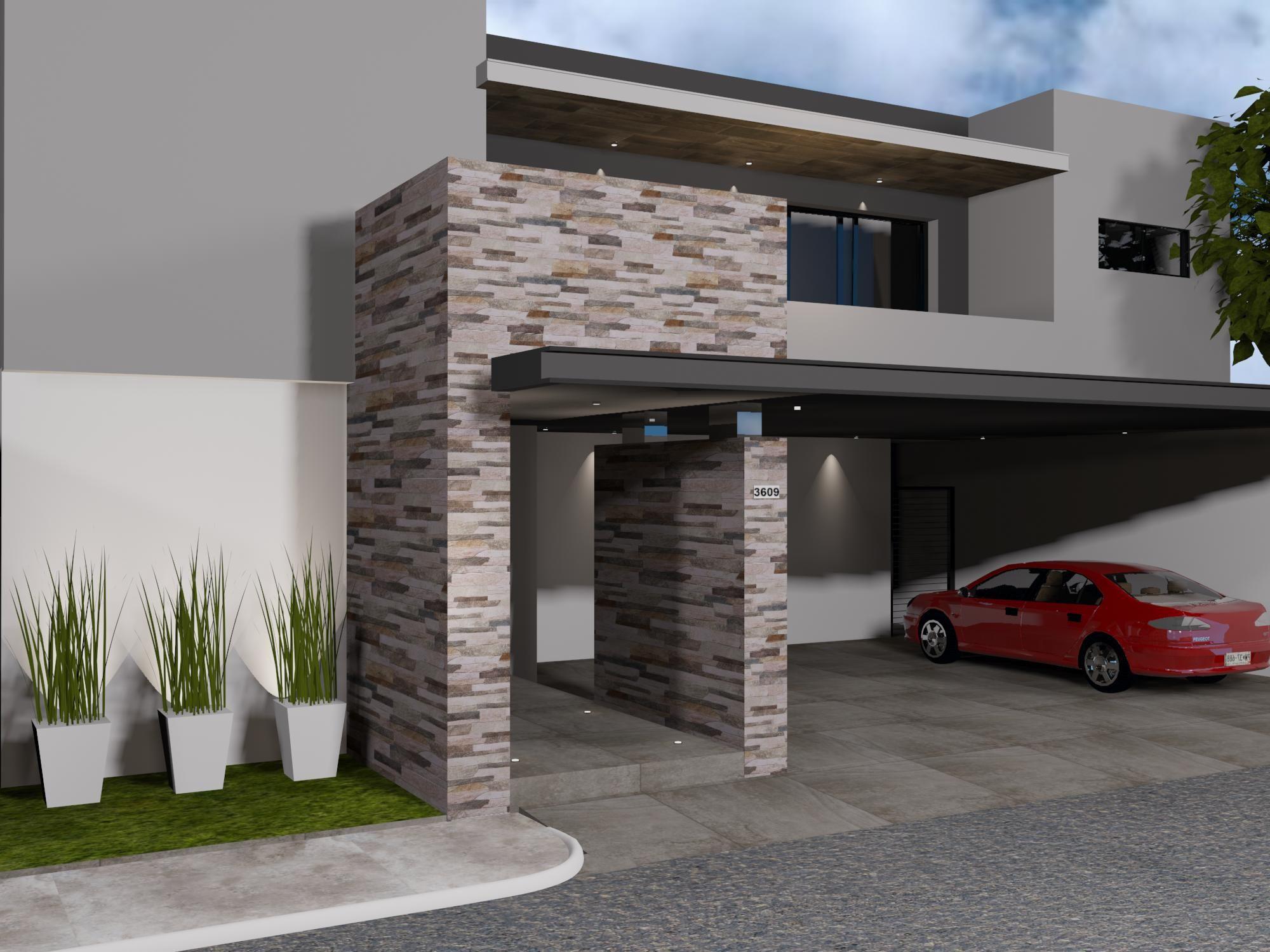 Fachada de estilo contempor neo materiales utilizados for Fachadas de casas estilo contemporaneo