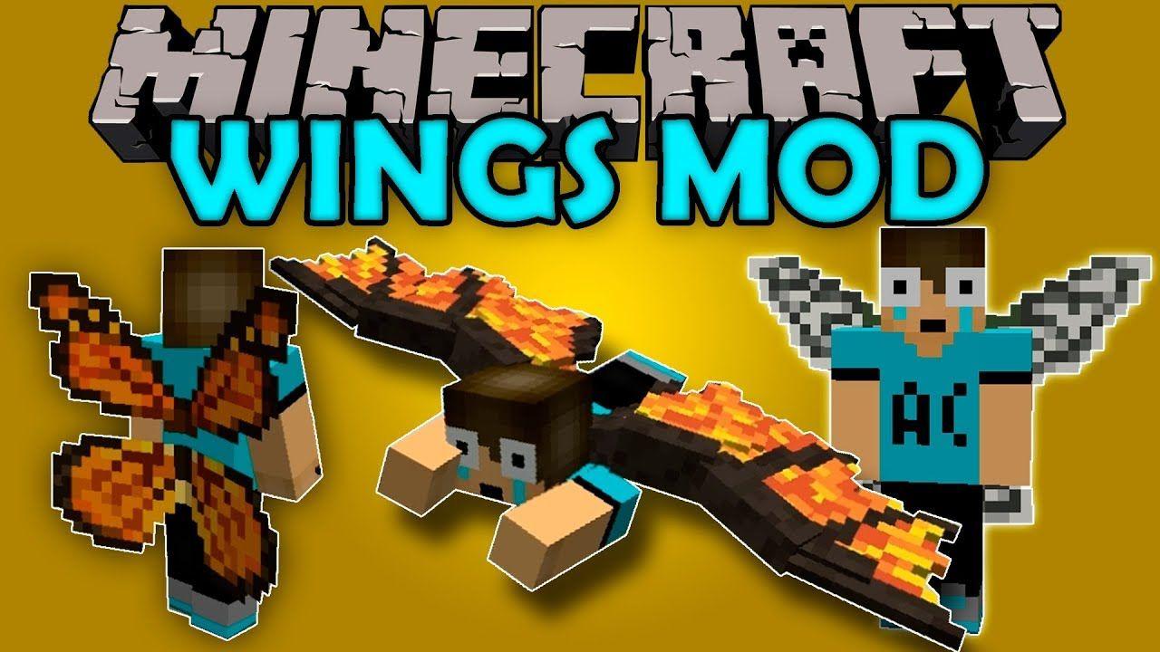 Wings Mod Alas Bien Cheveres En Maincra Minecraft Mod 1 12 2 Revie Minecraft Juegos Para Pc Gratis Alas