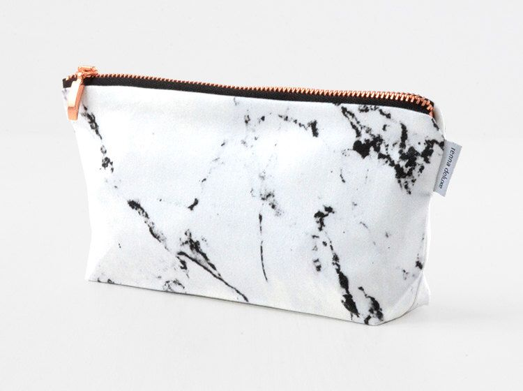 Renna Deluxe marble copper bag pouch up bag by renna deluxe by