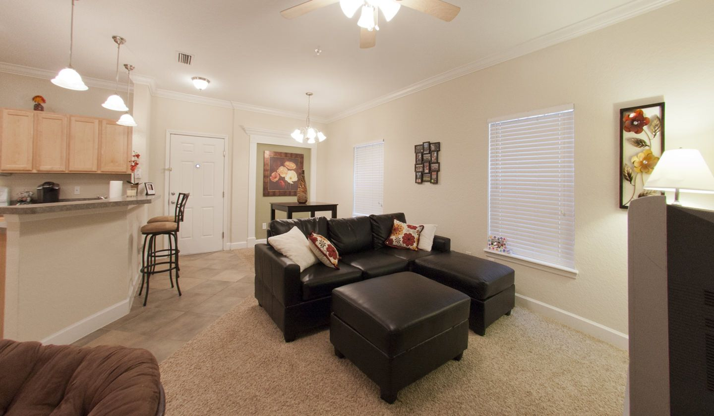 Living Area At Stratford Court Luxury Apartments In