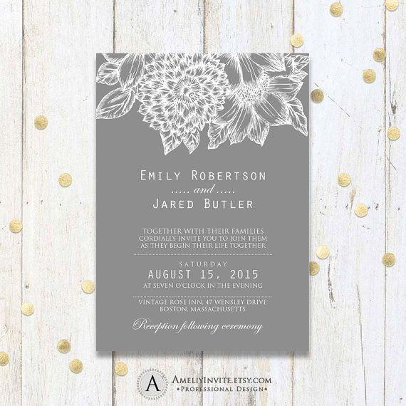 Modern Wedding Invitations, Wedding invitation template rustic ...