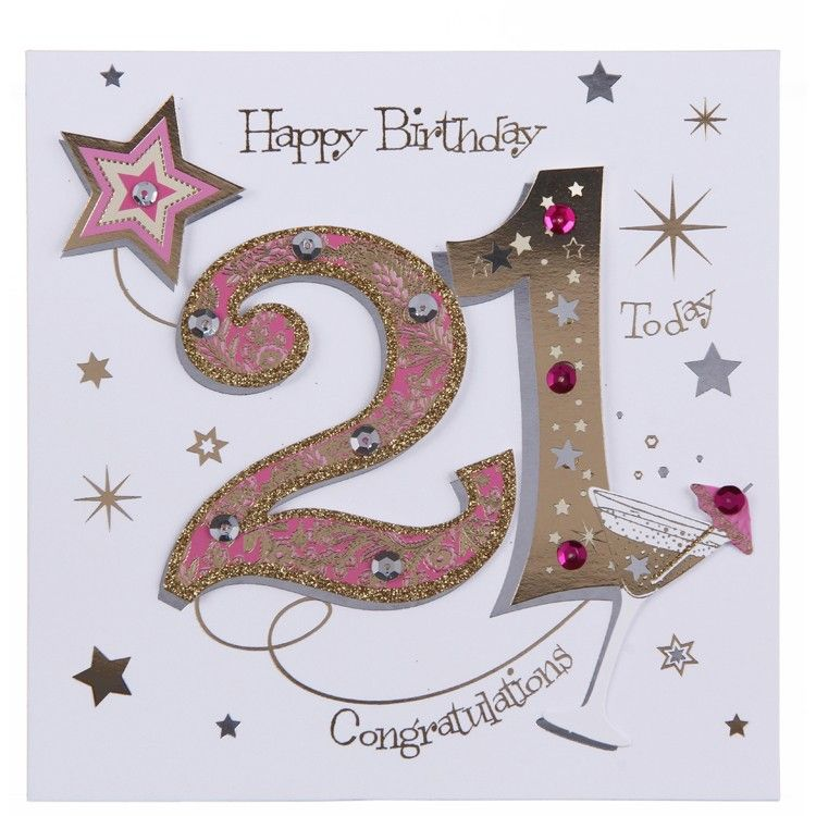 17 Best images about 21st birthday – Birthday Card 21