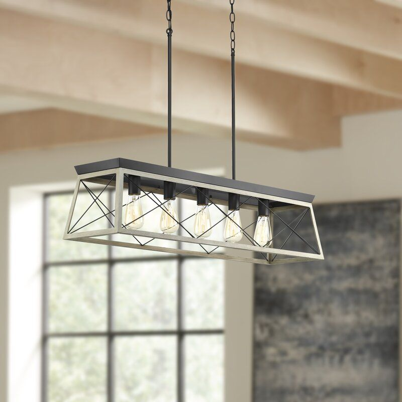 Byron 5 Light Kitchen Island Linear Pendant Reviews Birch Lane Kitchen Lighting Farmhouse Chandelier Rustic Light Fixtures