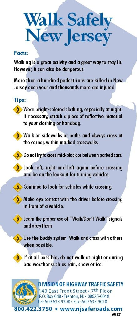 Some Important Facts And Tips About Safe Walking In Nj