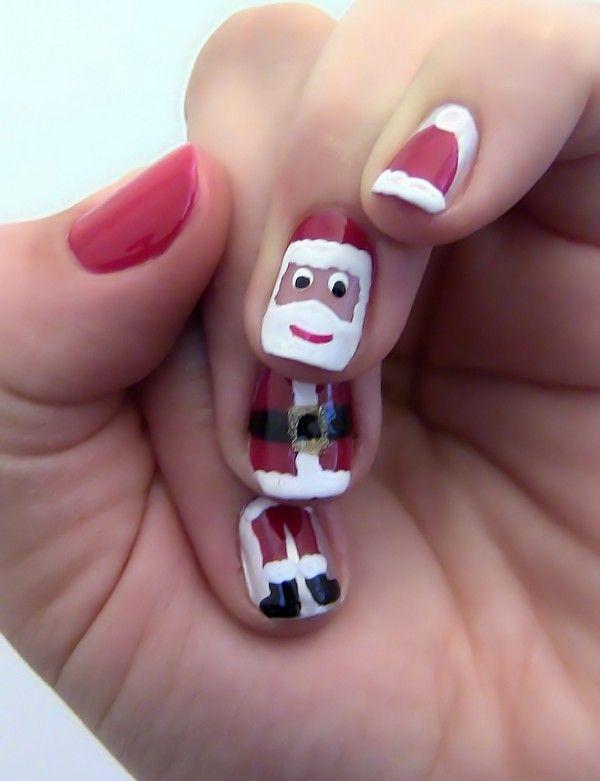 Santa Claus Hat Nail Art ... #ChristmasNailsArt #SantaClausNail  #NailArtDesigns - Santa Claus Hat Nail Art #ChristmasNailsArt #SantaClausNail