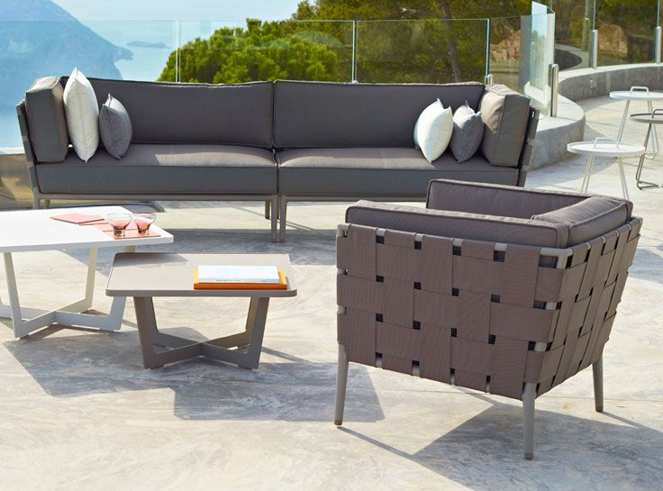 Contemporary Outdoor Living Lounge Furniture In A Gorgeous Taupe |  Cane Line Cane Line Conic Lounge Chair