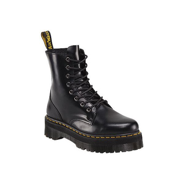 54e7123a166 Dr. Martens Jadon 8-Eye Boot - Black Polished Smooth ($170) ❤ liked ...
