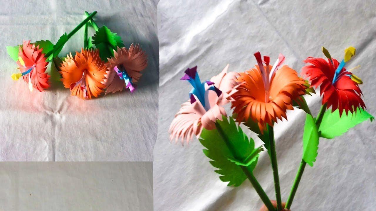 Making Step By Step Stick Paper Flower Diy Paper Artist Rd