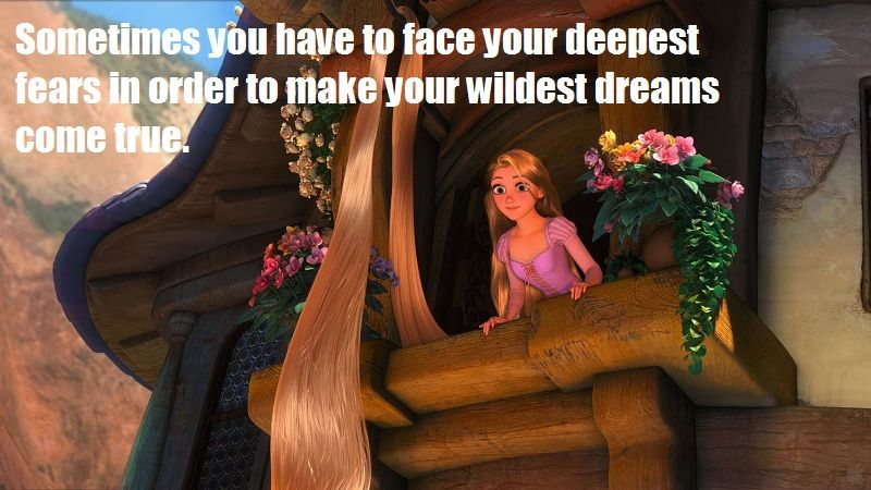 Sometimes you have to face your deepest #fears in order to make your wildest #dreams come #true // #tangled #disney life lessons