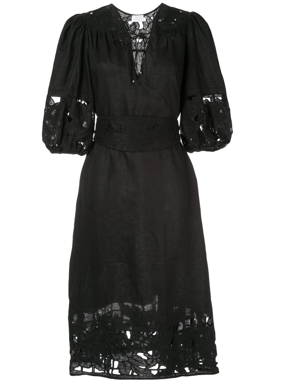 a3ea34c49a Zimmermann Juno embroidered yoke dress - Black   Products in 2019 ...