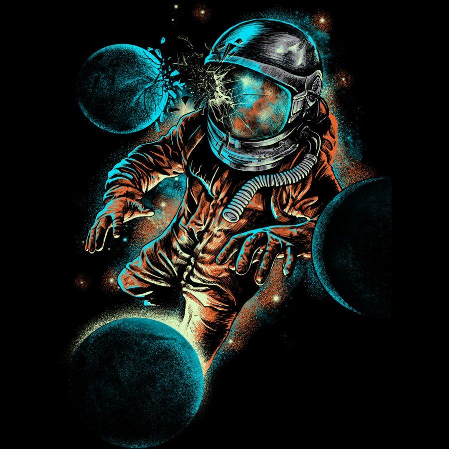 Spaceman tee shirt design custom t shirt design t - Outer space 5sos wallpaper ...