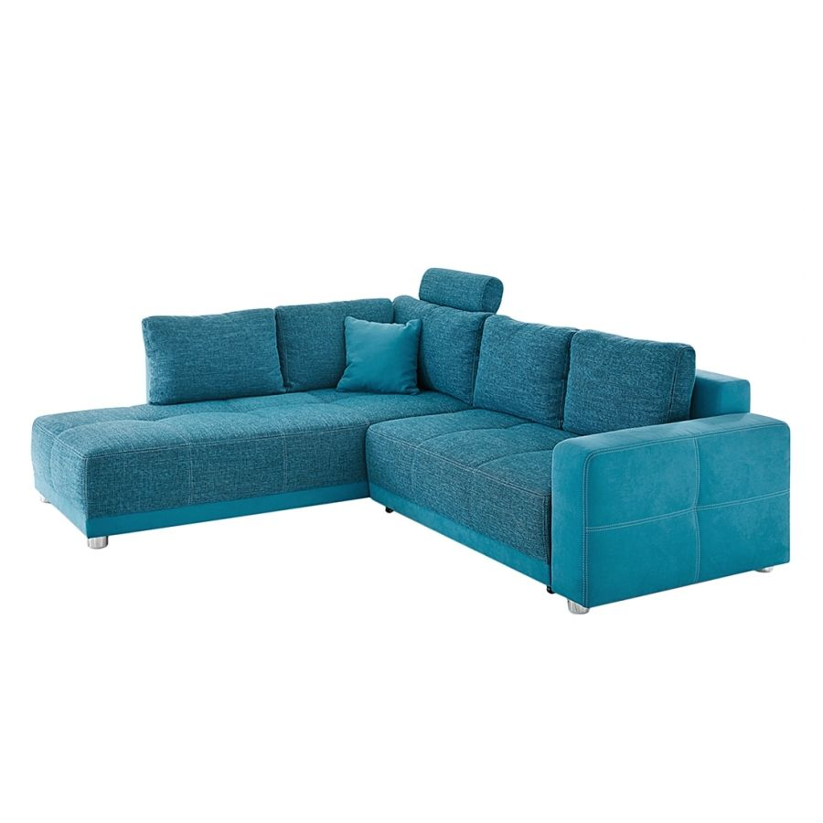 Bezaubernd Sofa L Form Mit Schlaffunktion Das Beste Von Ecksofa Chuck (mit Schlaffunktion) - Microfaser/strukturstoff Petrol