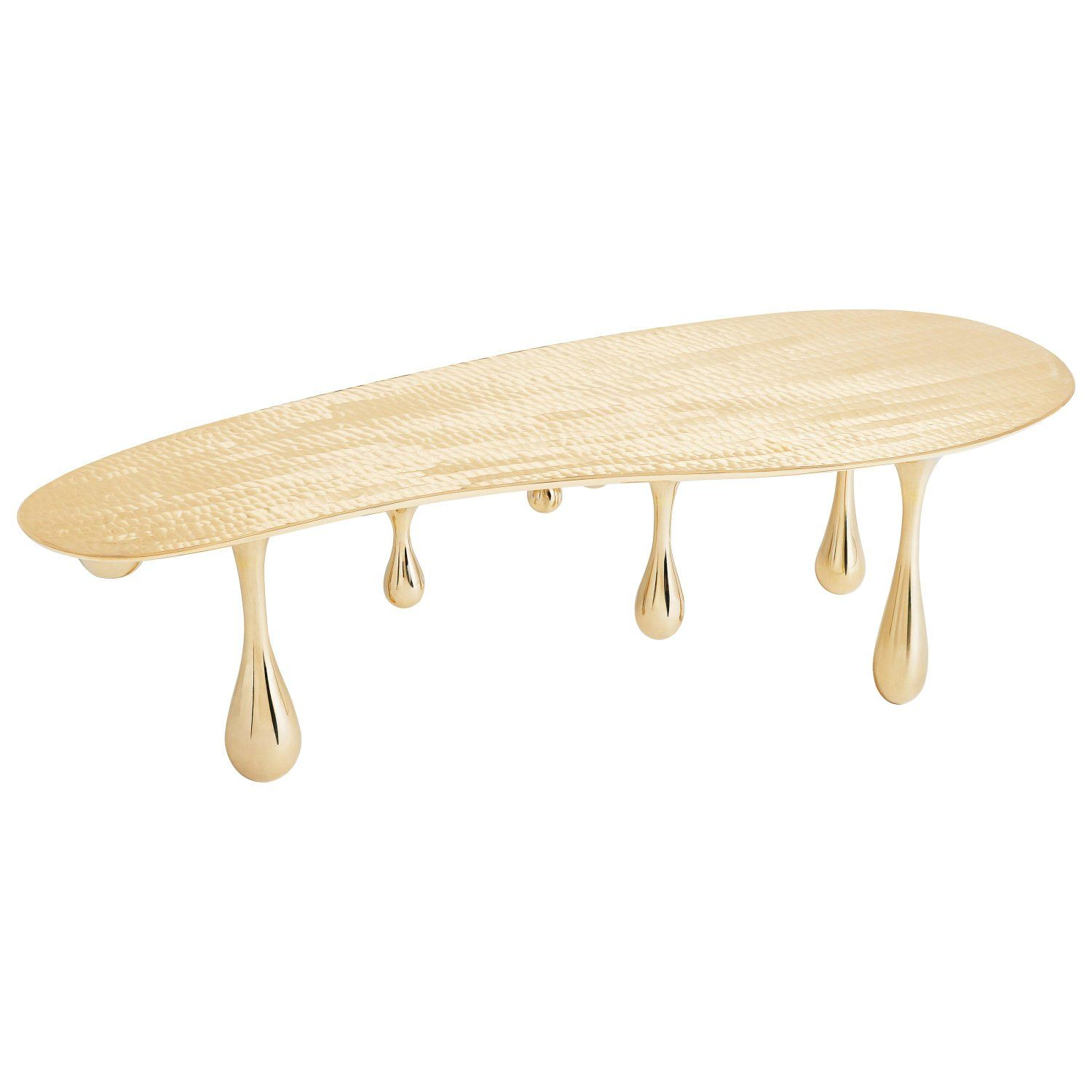 Melting Coffee Table Cocktail Table Bean Shape Polished Brass By Zhipeng Tan Vintage Coffee Cocktail Tables Polished Brass [ 1500 x 1500 Pixel ]