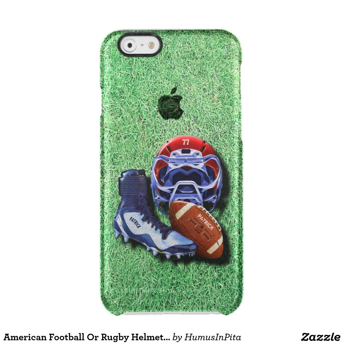 low priced 3b601 c18fb American Football Or Rugby Helmet Ball Shoe Named Clear iPhone 6/6S ...