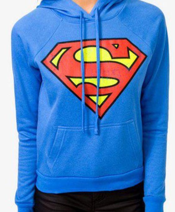New Women/'s Ladies Superman Batman Sweatshirt Sweater Jumper Top Size 8-14