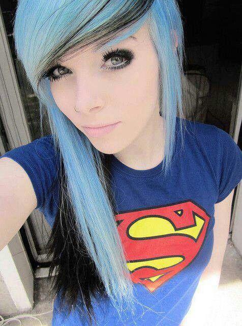 Light blue with black streaks!:-)