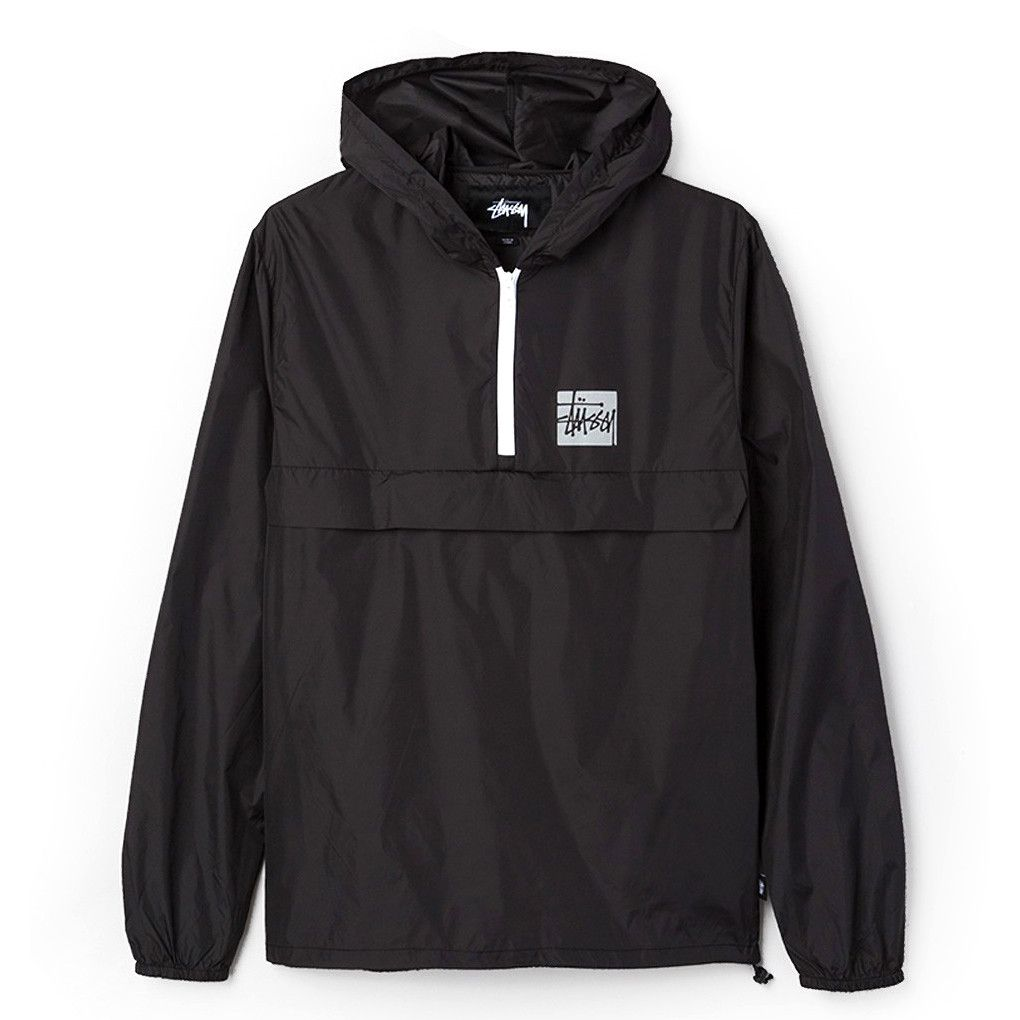 Stussy: Stock Packable Pullover - Black | Don't Sweat The Technics ...