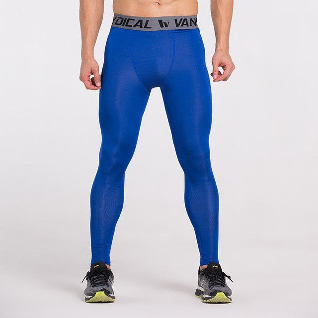 d90d9dcedf Vansydical Mens Compression Tights Skin Pants Running Jogging Jogger Fitness  Excercise Gym Athletic long pant Spandex