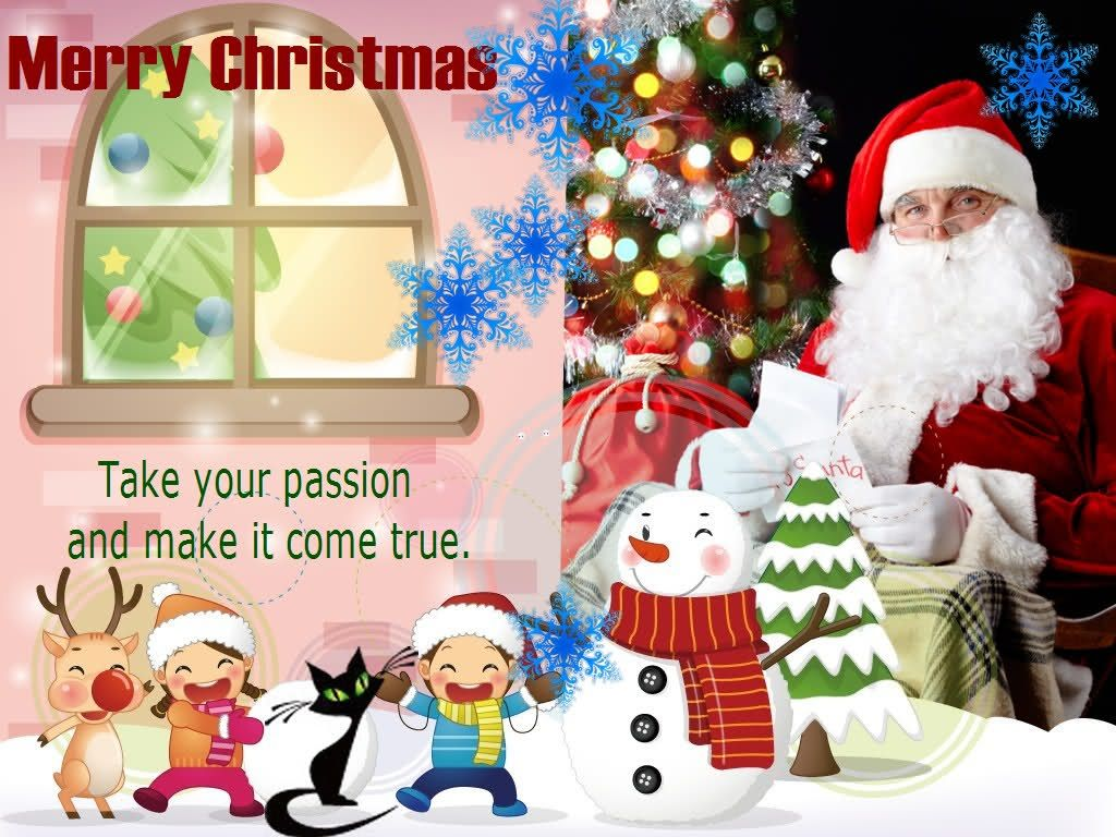 Beautiful Awesome Merry Christmas Cards With Wishes 2016
