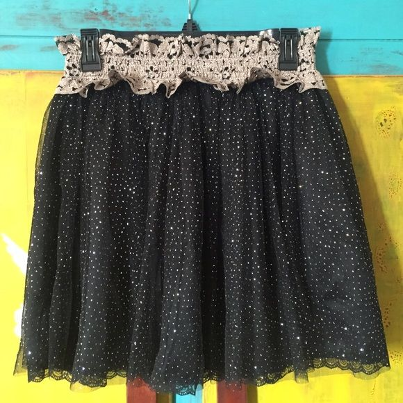 Selling this Black, sparkly skirt in my Poshmark closet! My username is: laurenb1128. #shopmycloset #poshmark #fashion #shopping #style #forsale #213 by Michelle Kim #Dresses & Skirts