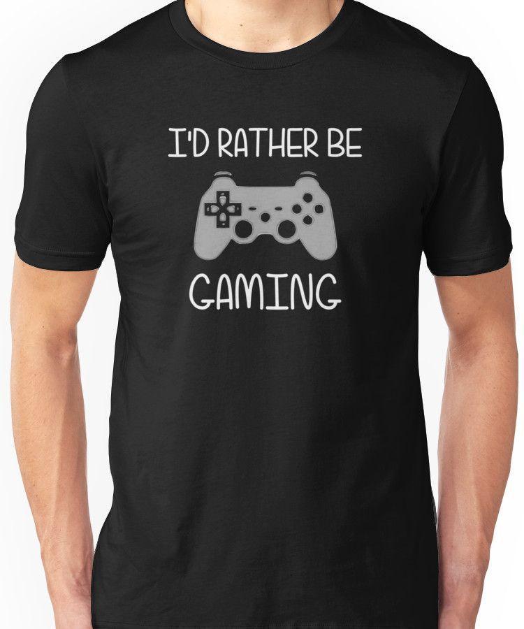 I/'d Rather Be Gaming V-Neck T-Shirt