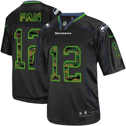 12s Seattle Seahawks Game Jersey Camo