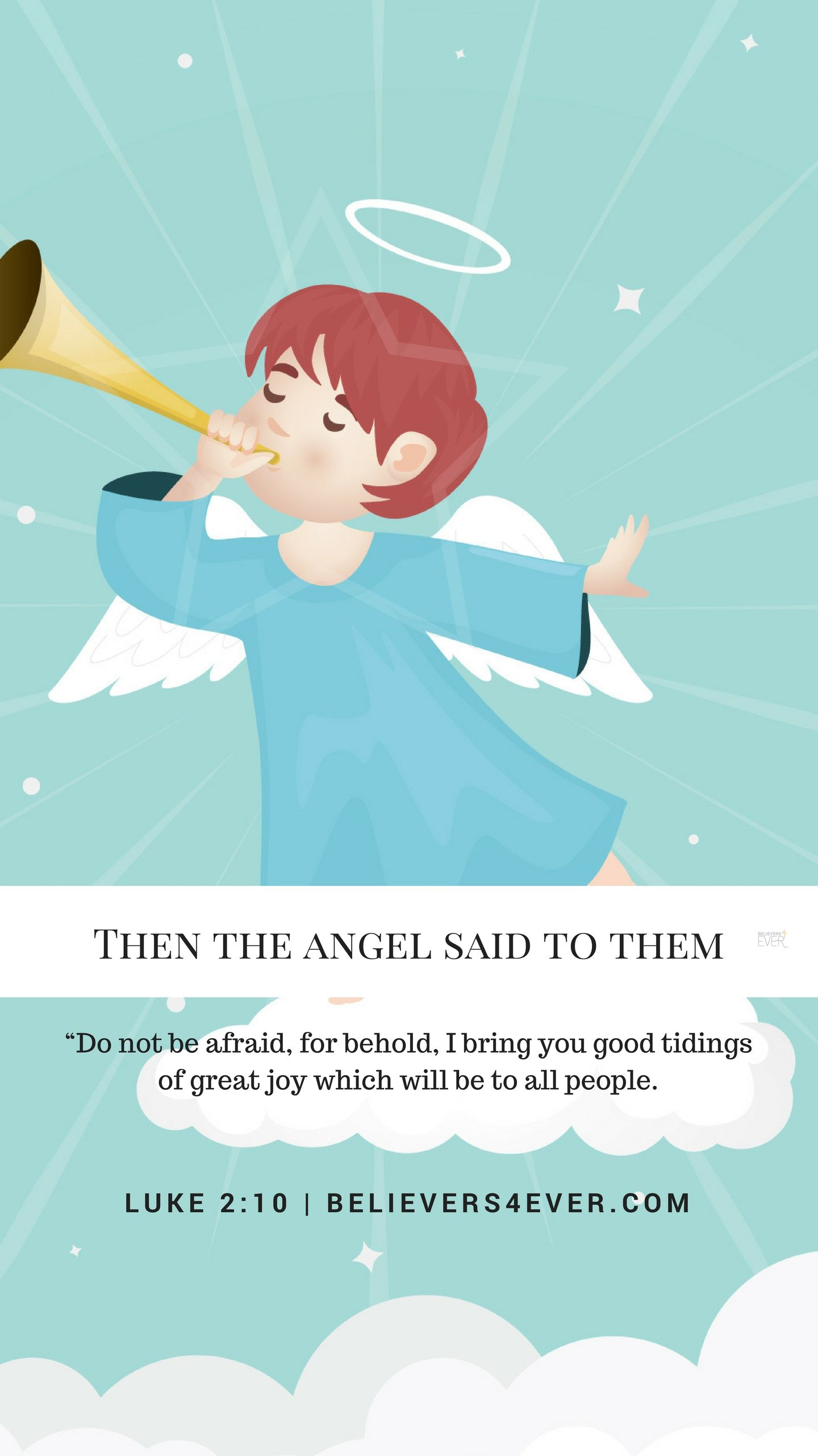 Then the angel said to them - Believers4ever.com | Joy to the world lyrics, Joy to the world ...