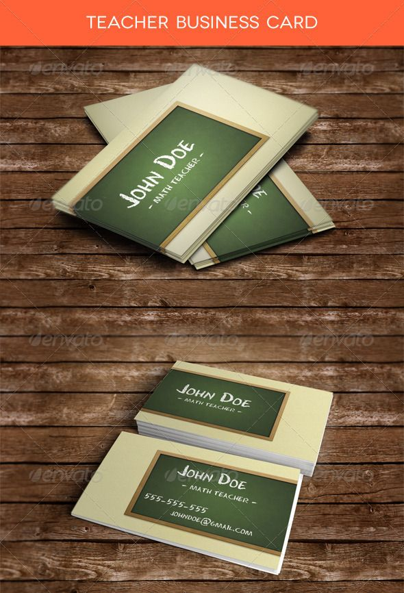 Teacher business card teacher business cards business cards and teacher business card graphicriver teacher business card is a template mainly designed for teachers wajeb Gallery