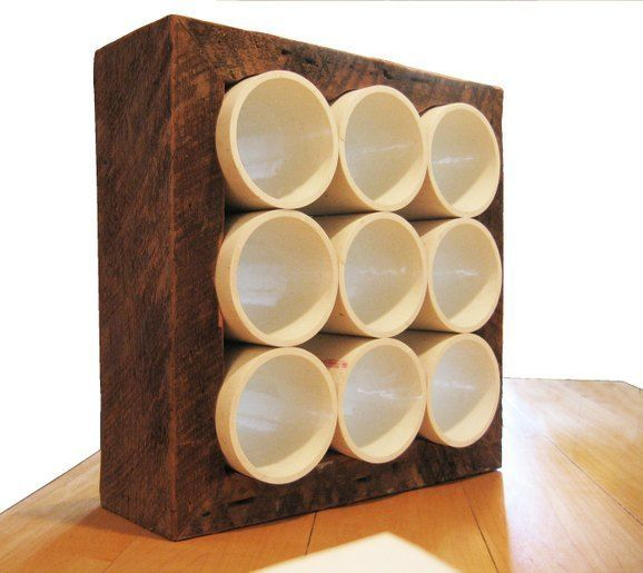 Guess What Was Used For This Wine Rack   Wood wine racks, Wine rack ...