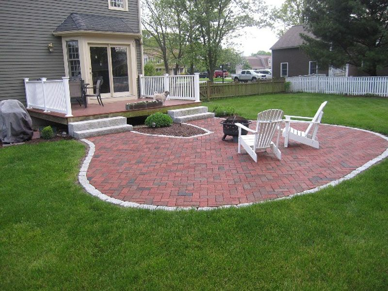 stone patio ideas - Yahoo Image Search Results deck Pinterest