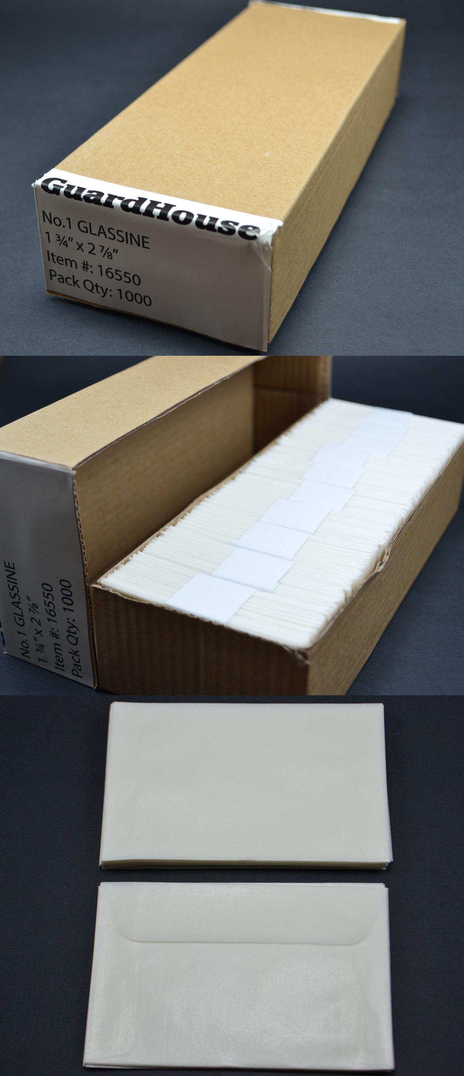Guardhouse #4 Glassine Stamp Envelope Black Chipboard Storage Box
