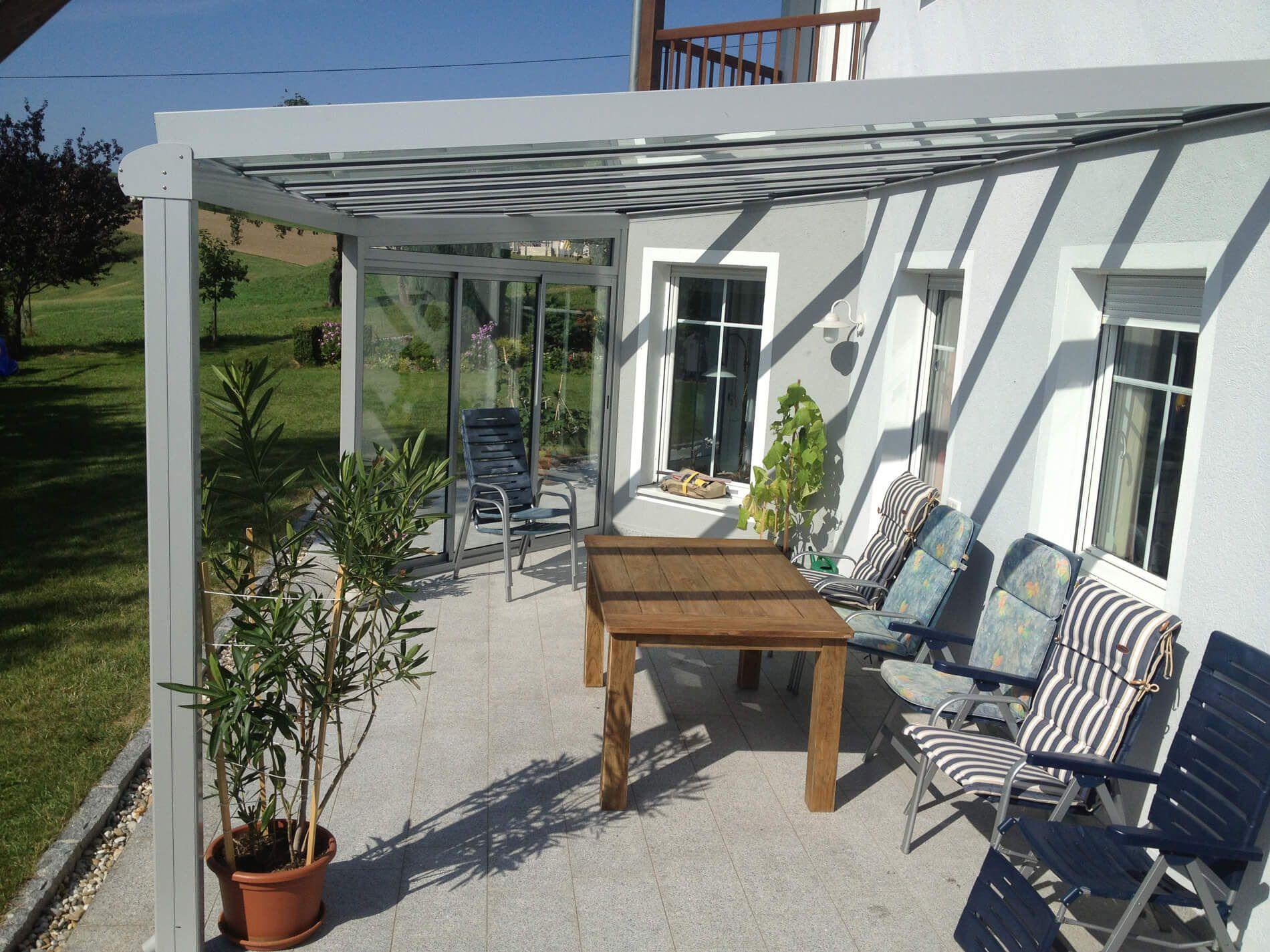 terrassen berdachung alu glas mit seitenteil. Black Bedroom Furniture Sets. Home Design Ideas