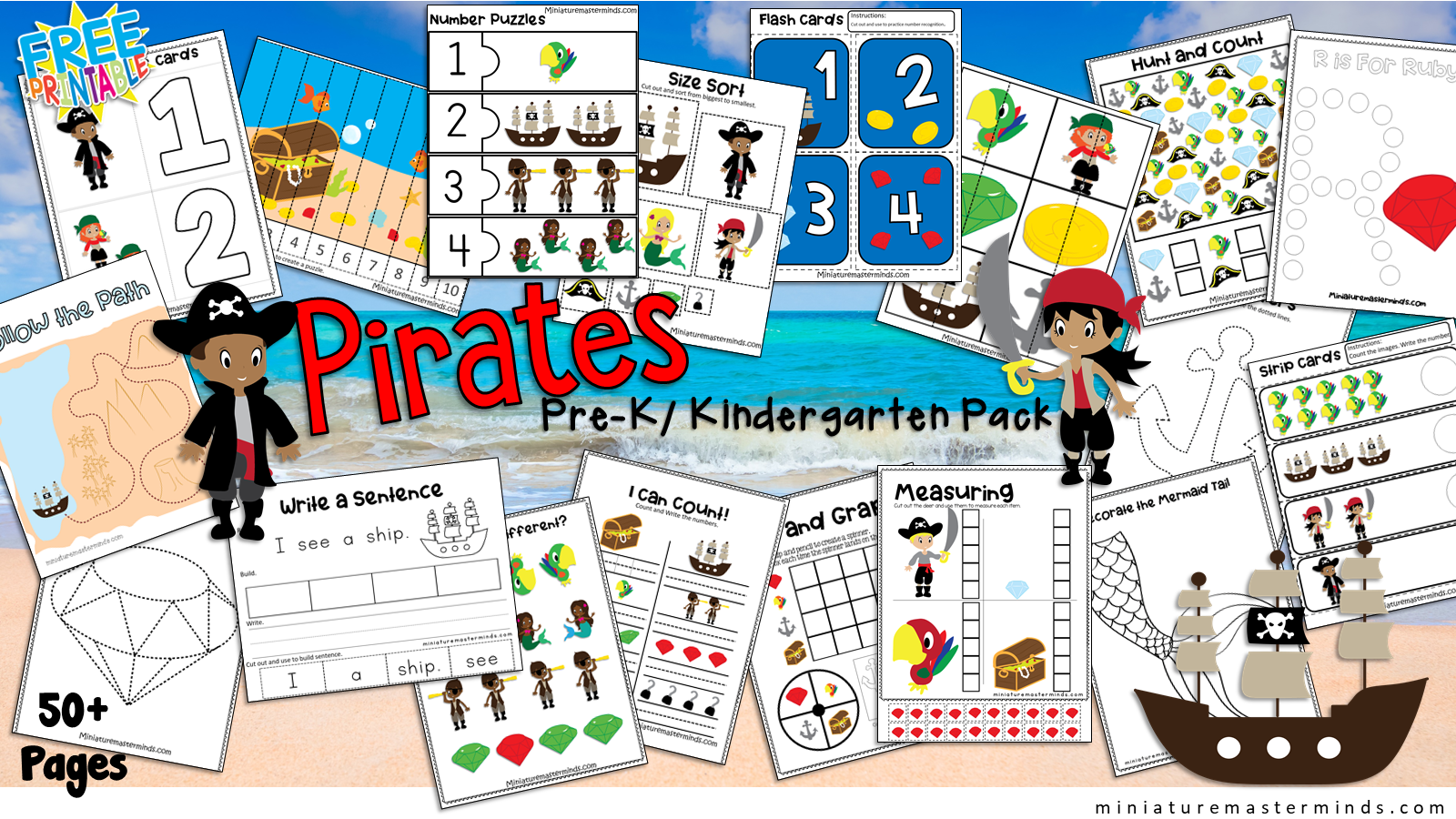 Pirate Themed Preschool And Kindergarten Educational