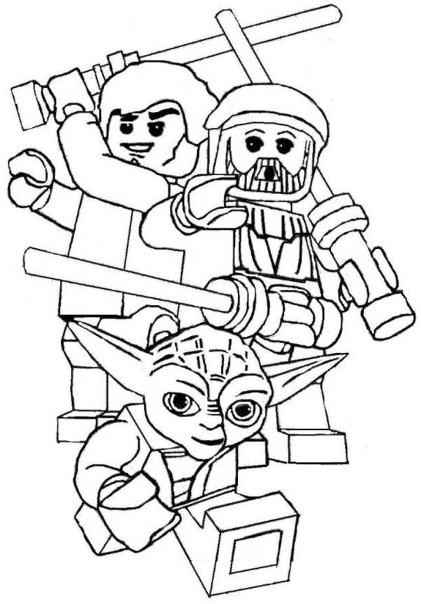 Star Wars Printable Coloring Pages Lego LEGO omalov nky