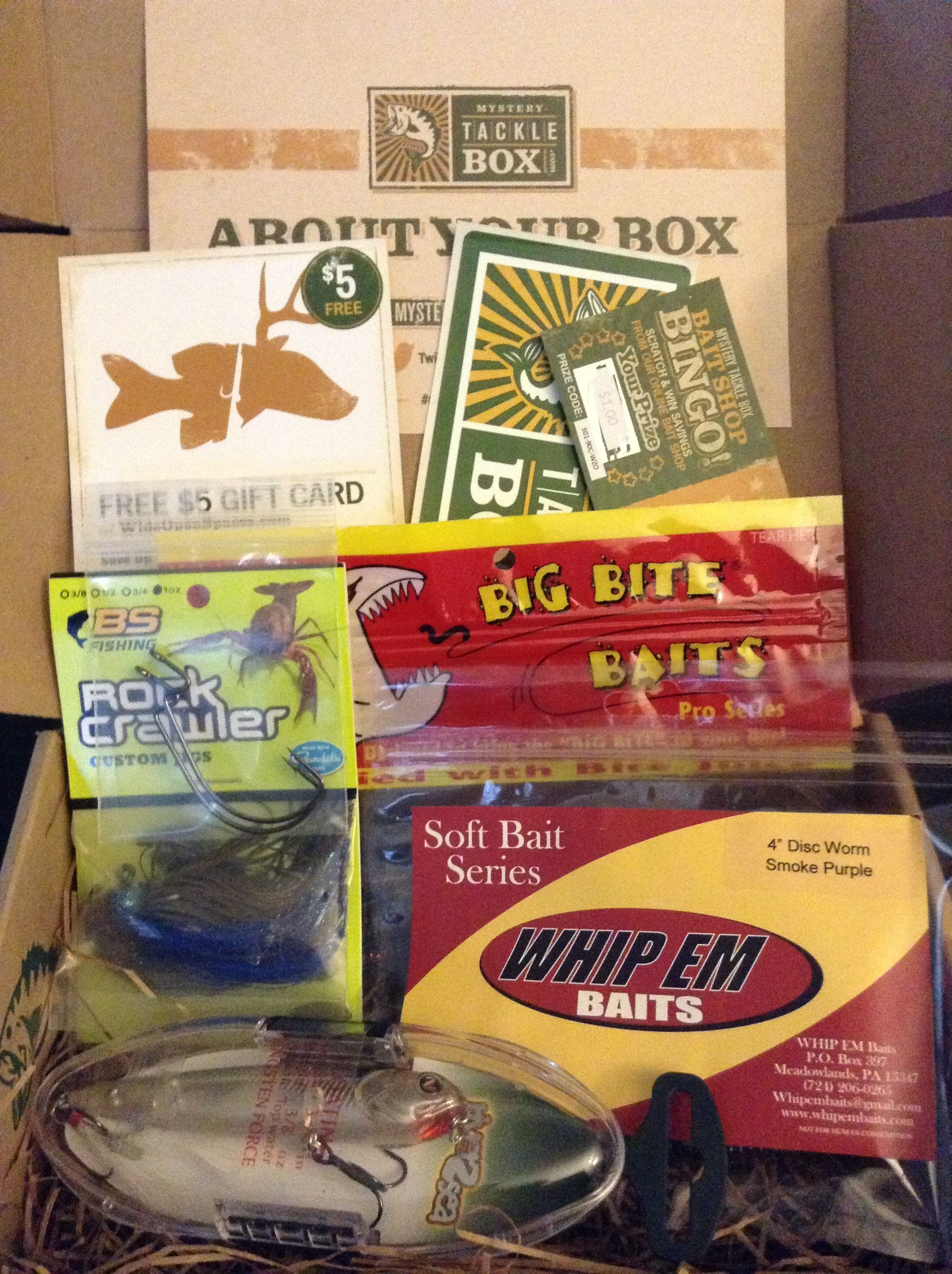 April Mystery Tackle Box Subscription Boxes Pinterest