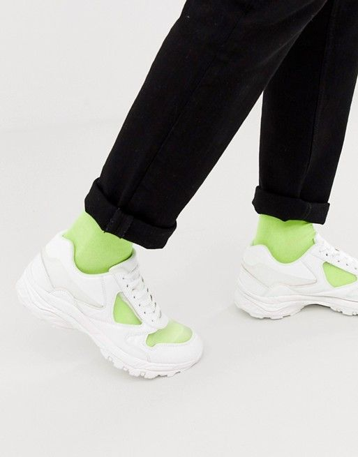 ASOS DESIGN sneakers in white with