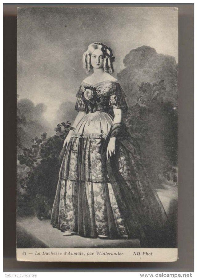 La Duchesse d'Aumale - par Winterhalter  - Marie-Caroline de Bourbon-Siciles - Famille des Bourbons