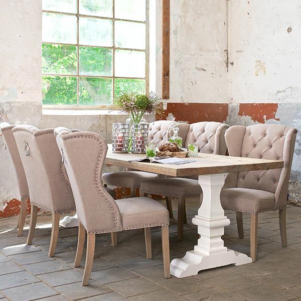 Hoxton Oak White Farmhouse Dining Table Dining table
