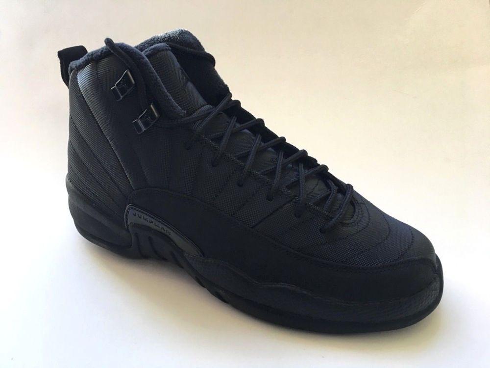 2a0f97c98a4 eBay  Sponsored Air Jordan 12 Retro Winterized Triple Black Anthracite IN  STOCK Big Kid s 6.5